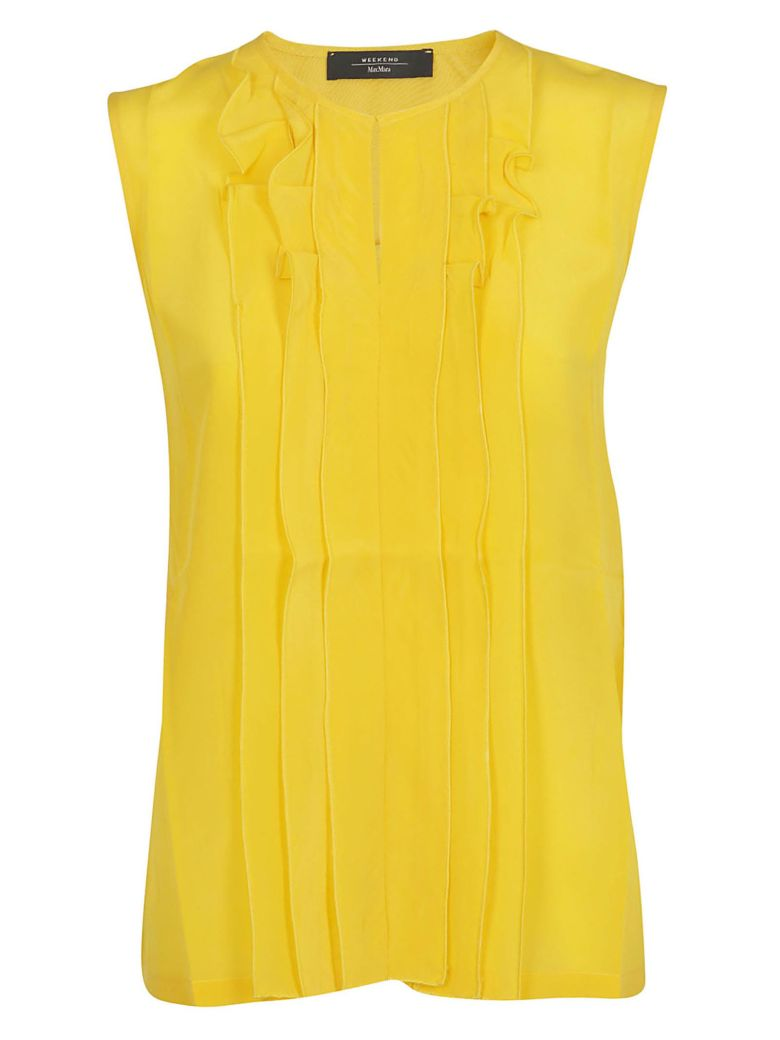Weekend Max Mara Ruffled Top - Yellow