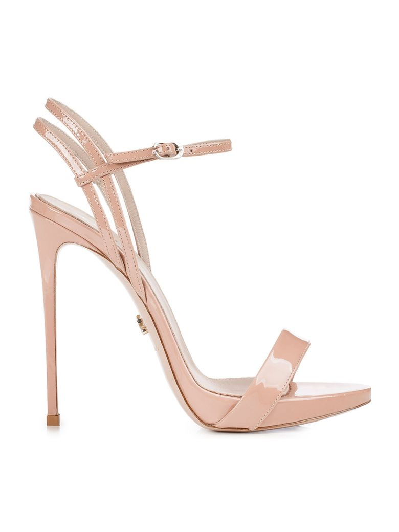 Le Silla Nude Patent Gwen 120 Sandals - NUDE