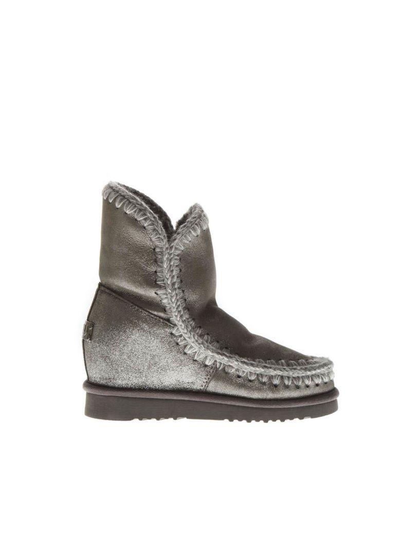 Mou Eskimo Light Silver Wool & Leather Boots - Basic