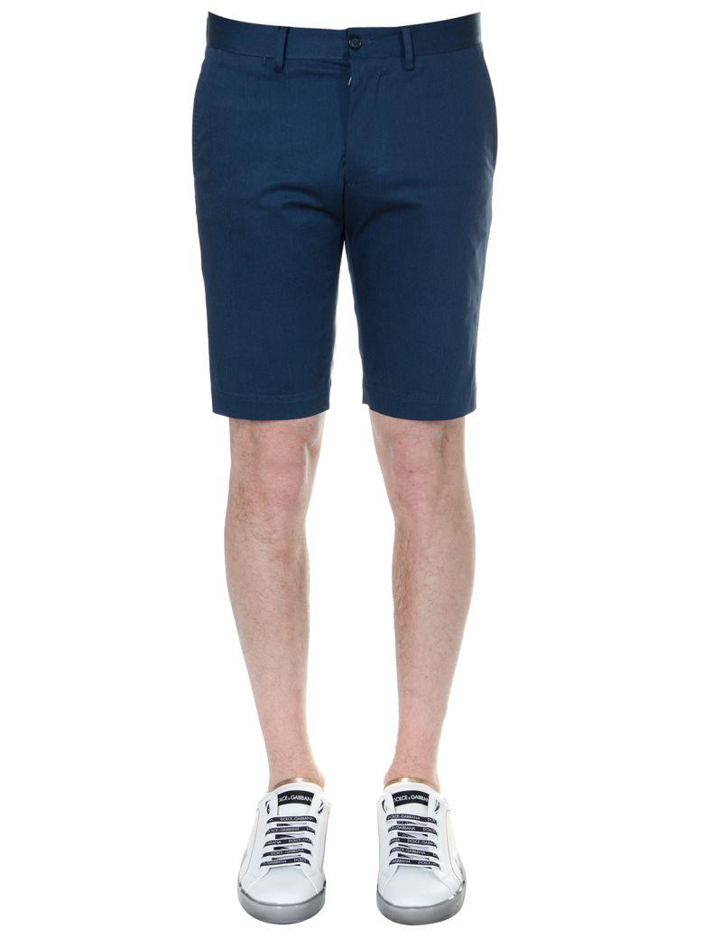 Dolce & Gabbana Blue Cotton Bermuda Shorts - Blue
