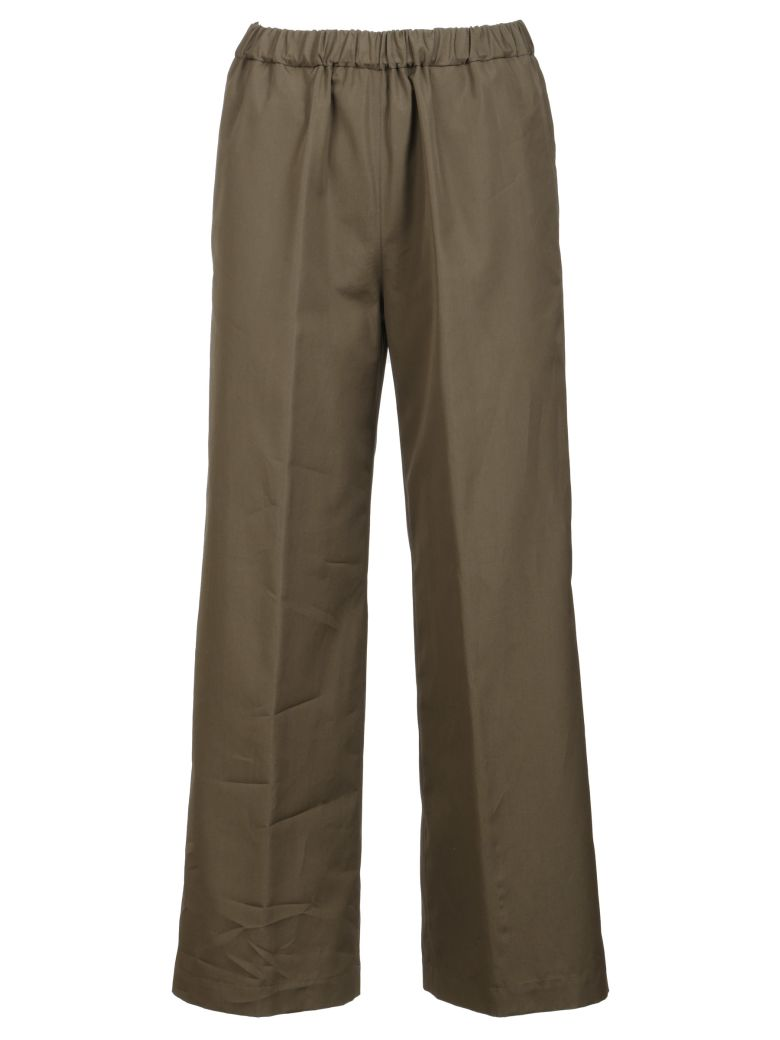 Aspesi Cropped Flared Trousers - Green