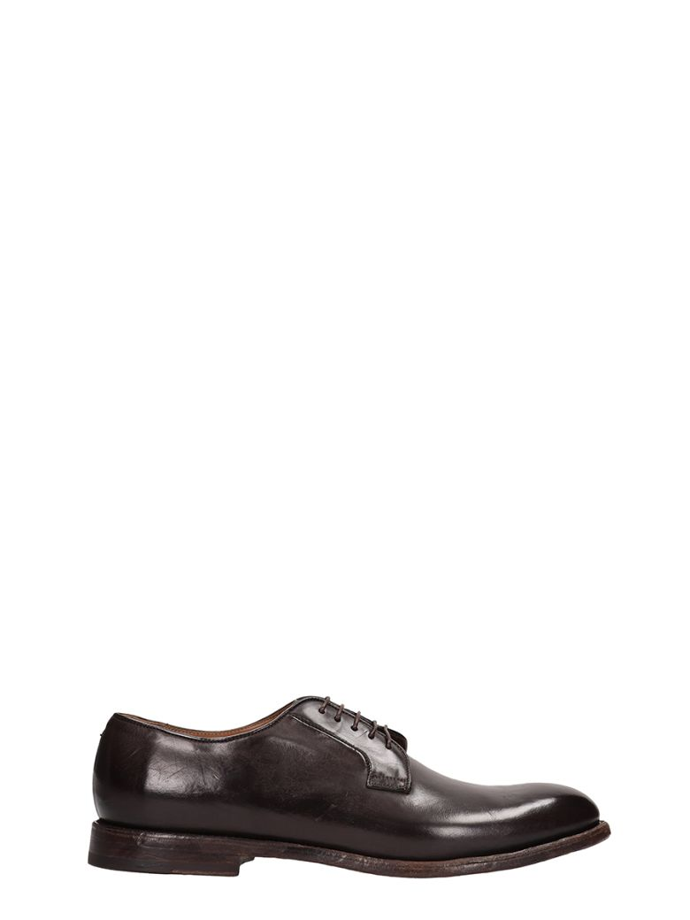 Franceschetti Lace-up Shoes In Brown Brushed Leather - brown