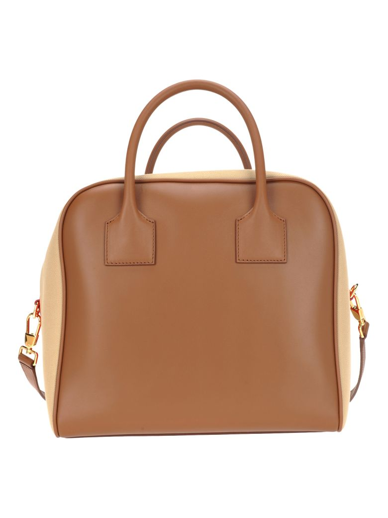 2573e1c3cf0b Burberry London Burberry London Medium Bowling Bag - MALT BROWN + RED -  10939707