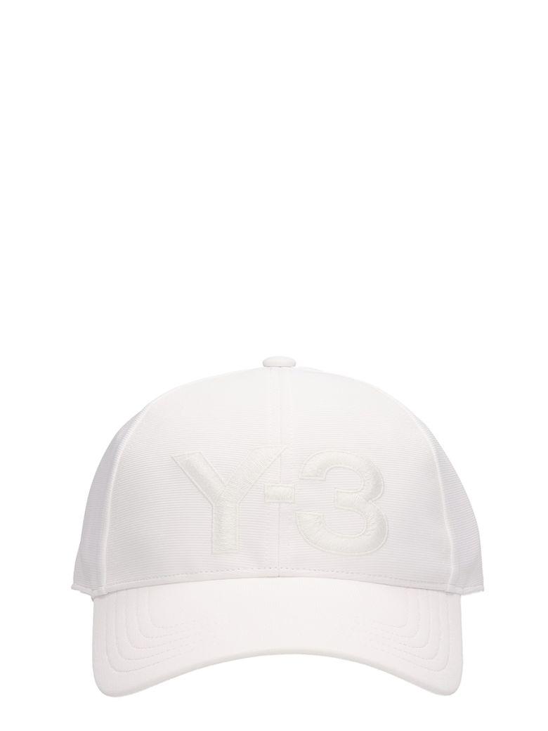 Y-3 WHITE POLYESTER CAP