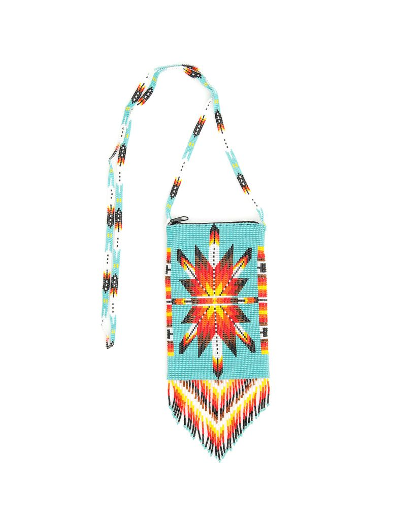 Jessie Western Small Beaded Bag - MULTICOLOR (Light blue)