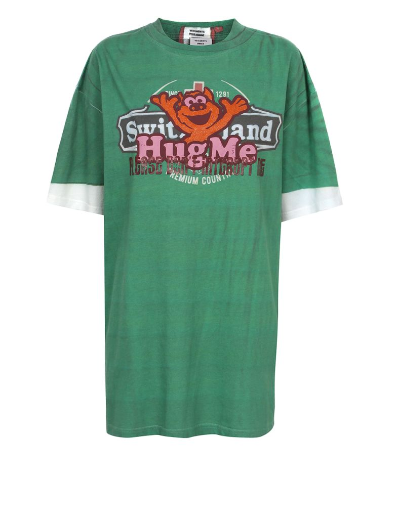 VETEMENTS - Hug Me T-shirt - Green