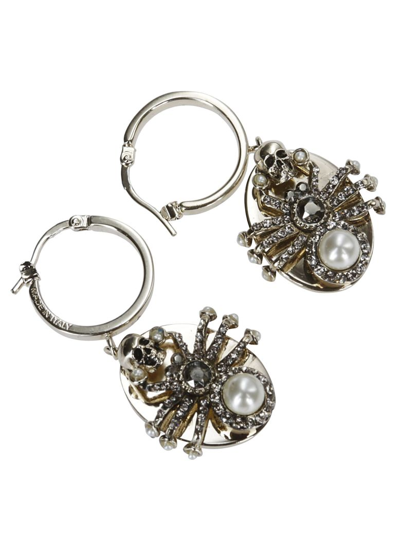 Alexander McQueen Spider Earrings - Silver