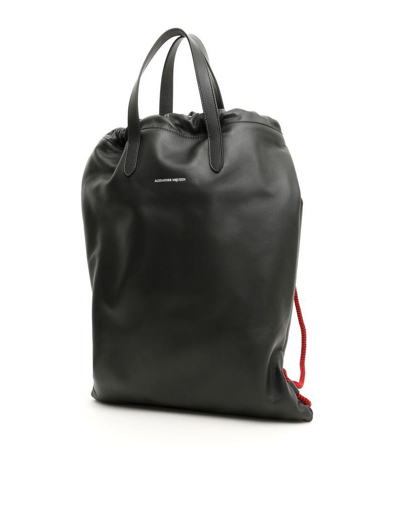 Alexander McQueen Leather Backpack - BLACK (Black)