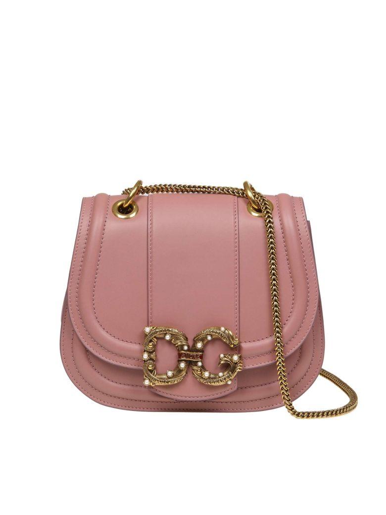 Dolce & Gabbana Love Shoulder Strap In Pink Calfskin - Pink