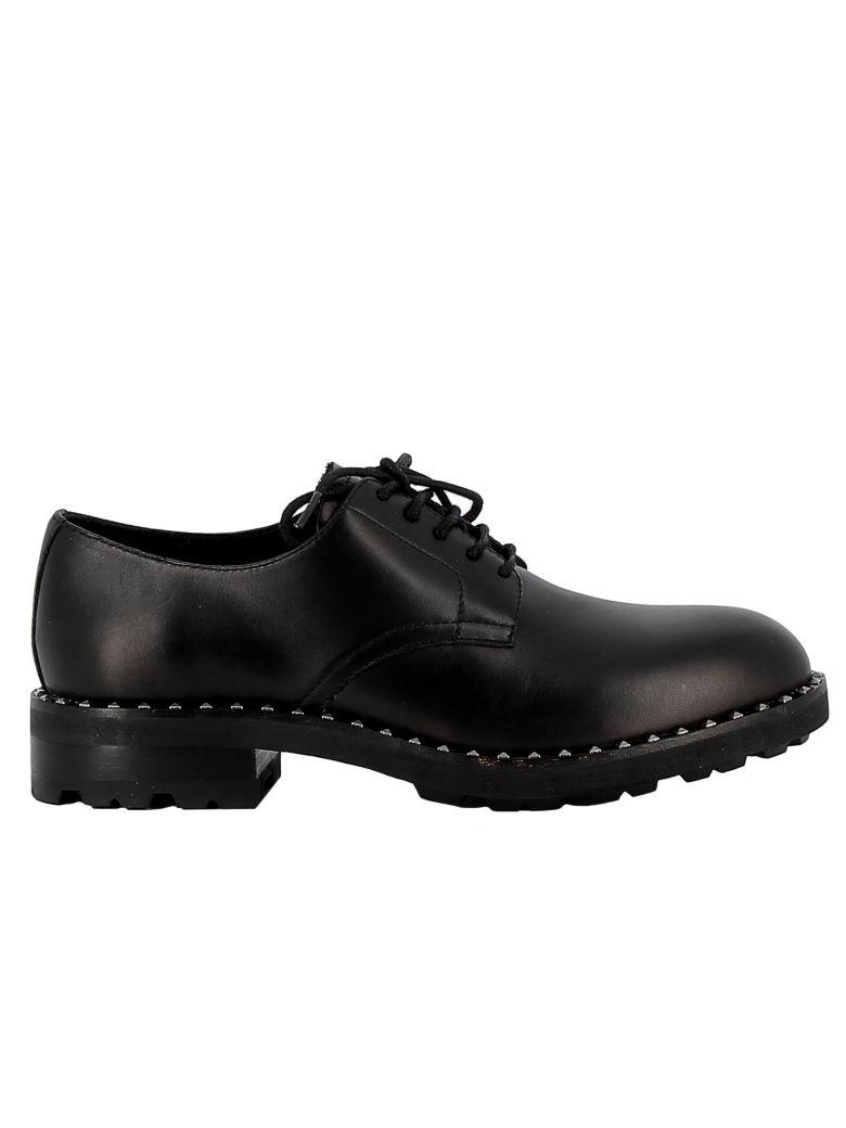 Ash Black Leather Lace-up Shoes - BLACK