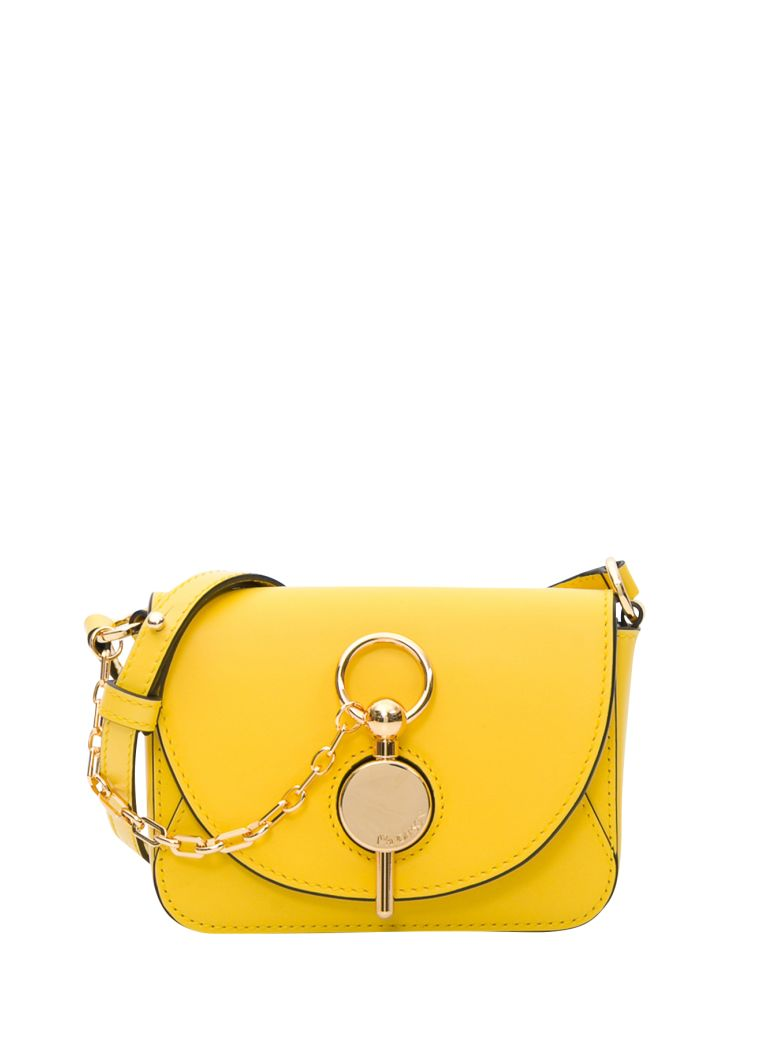 J.W. Anderson Keyts Nano Leather Shoulder Bag - Giallo