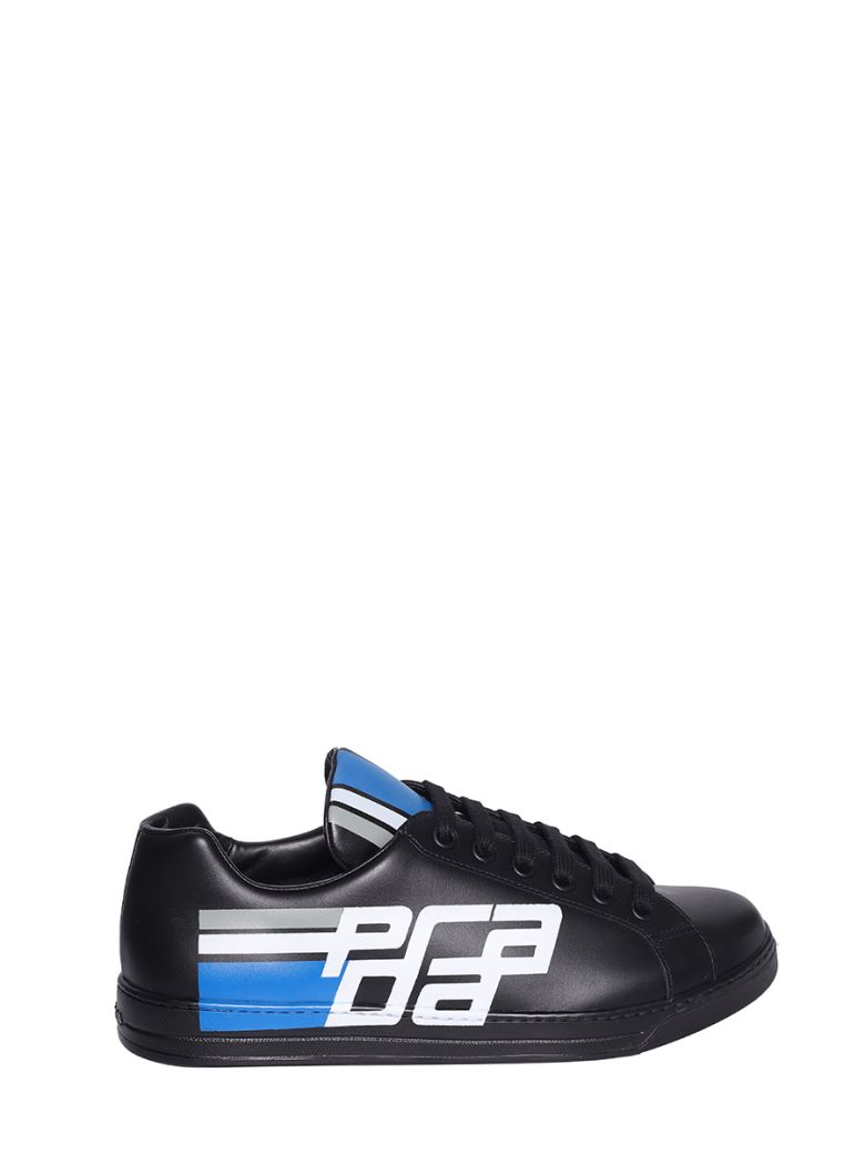 Prada Linea Rossa Black Avenue Low-top Sneakers - Nero