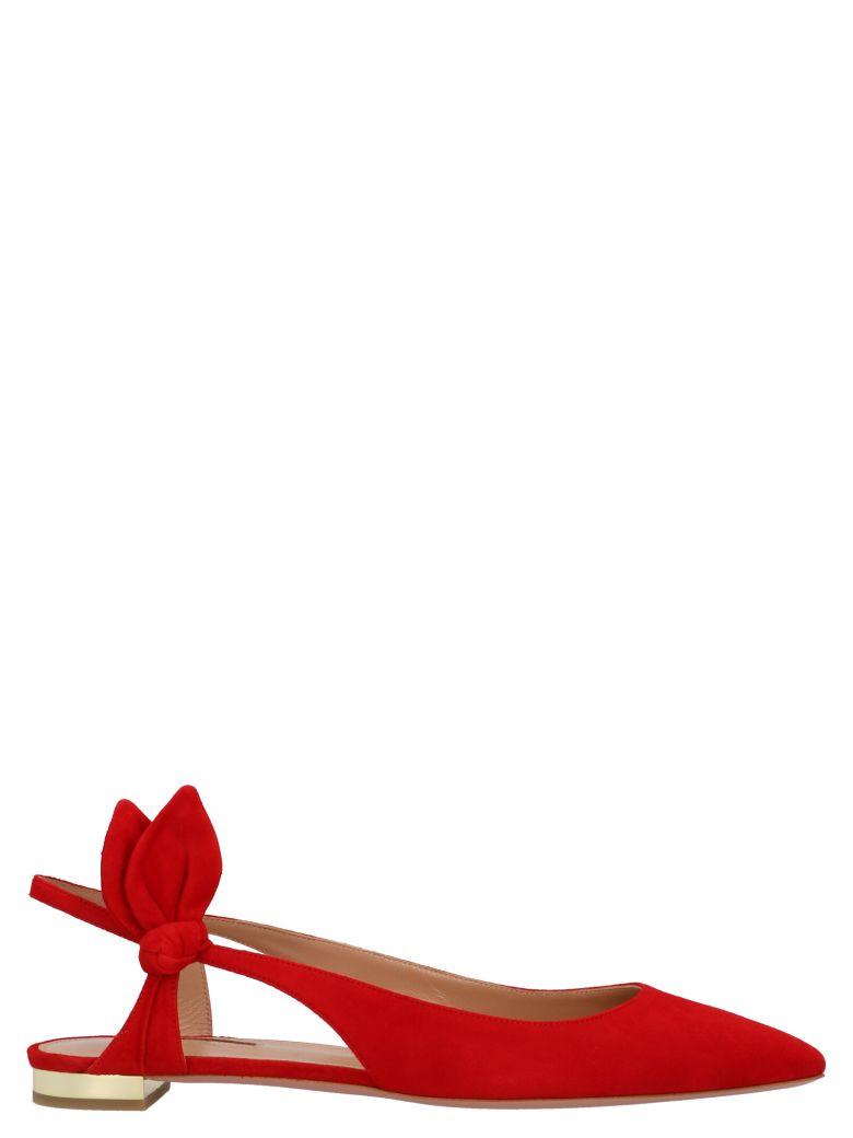 Aquazzura 'drew Flat' Shoes - Red