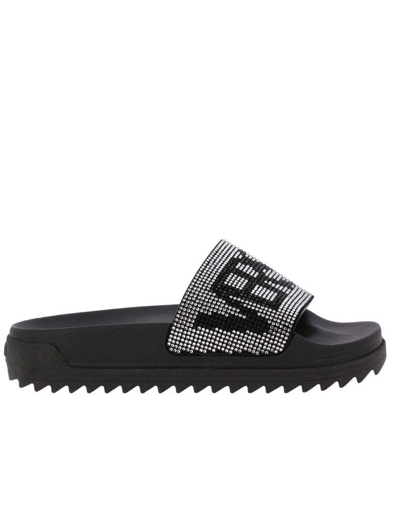 Versus Versace Versus Flat Sandals Shoes Women Versus - black