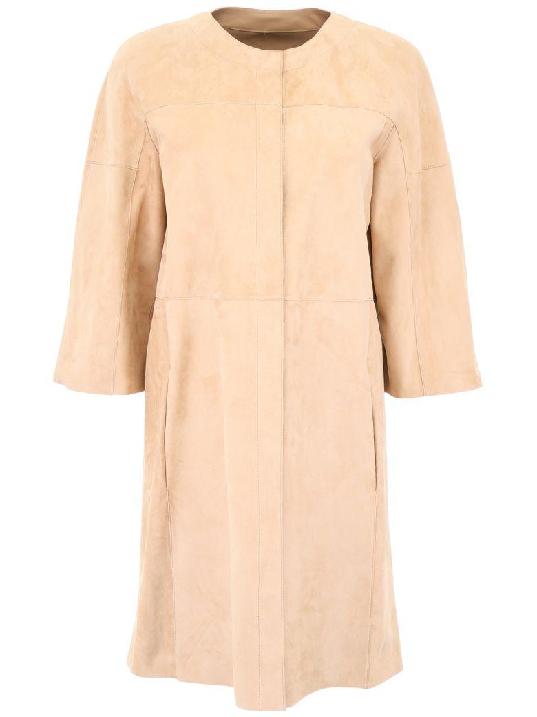 DROMe Reversible Leather Coat - RIMMEL (Beige)