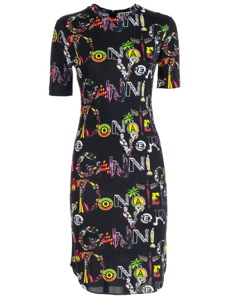 Versus Versace Printed Dress - Black Stampa