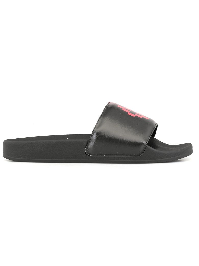 Marcelo Burlon Gradient Sandal - BLACK RED