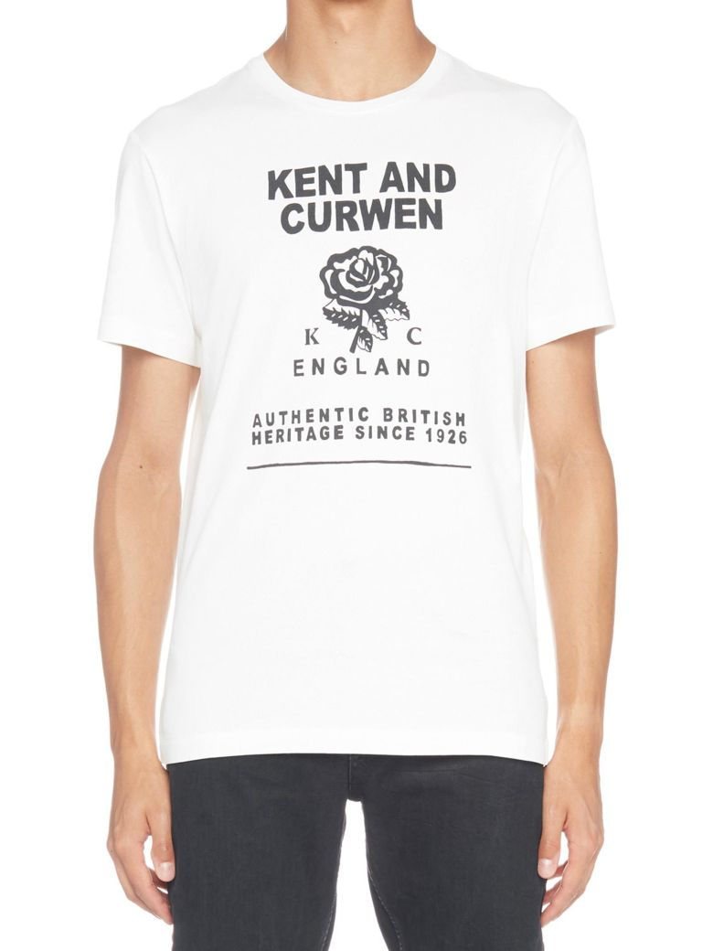 Kent & Curwen 'rose Band' T-shirt - White