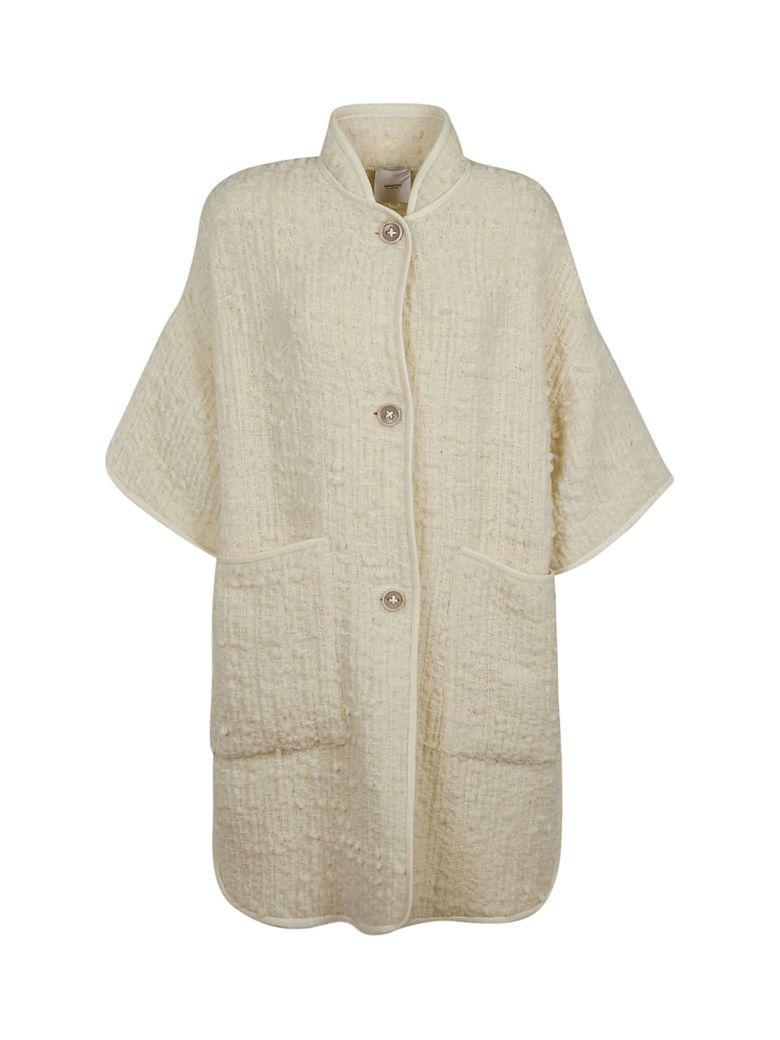 Agnona Tweed Coat - White