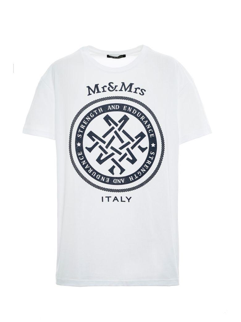 Mr & Mrs Italy Unisex Oversized T-shirt - WHITE
