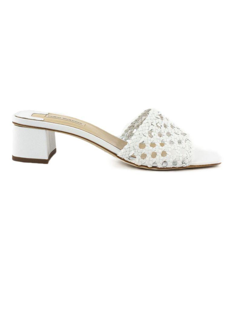 Fabio Rusconi White Leather Sandal - Bianco