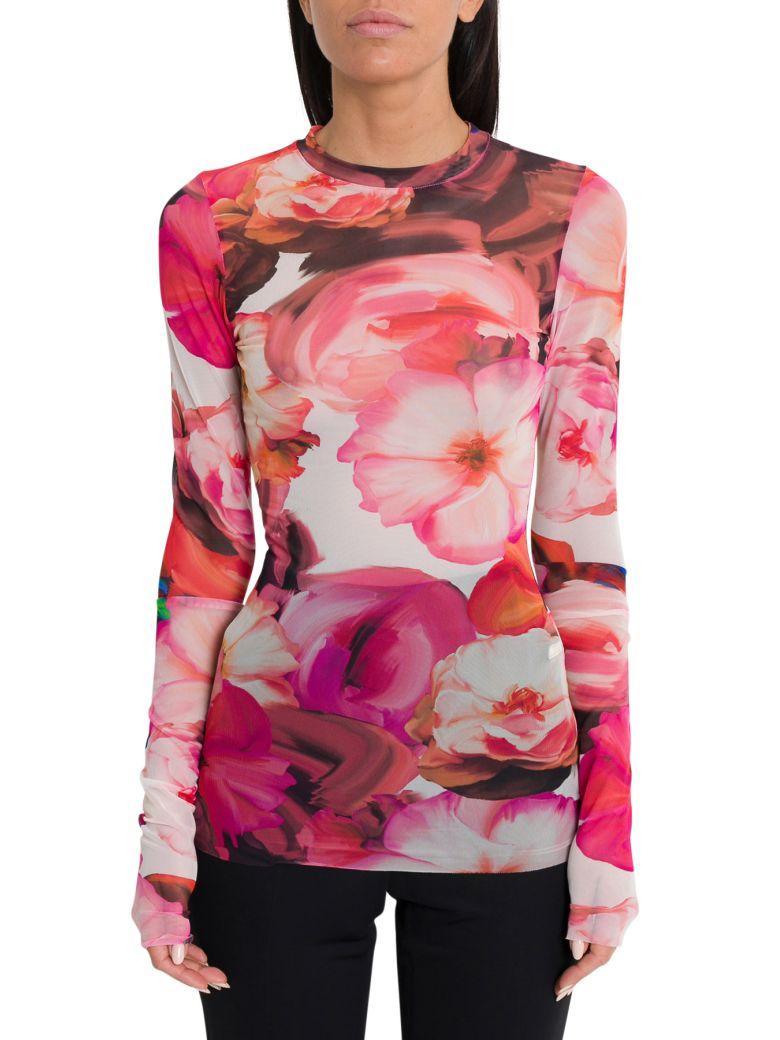 MSGM Floral Mesh Top - Pink