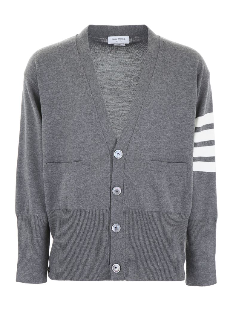 Thom Browne Oversized Cardigan - MED GREY (Grey)