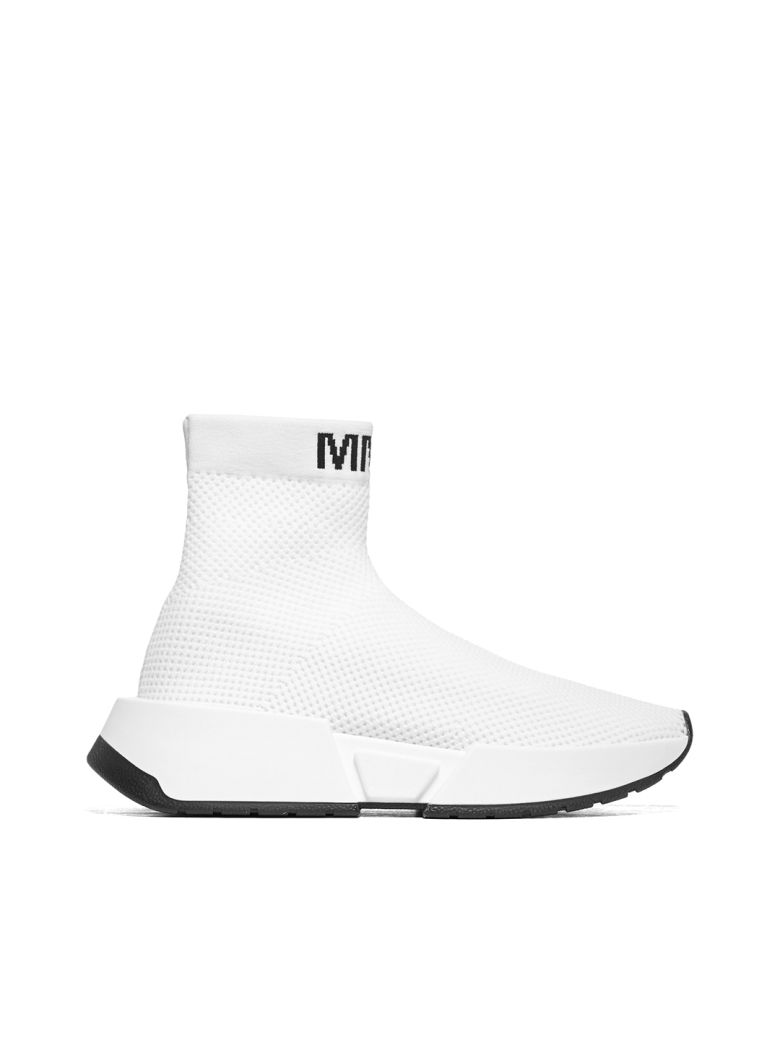 MM6 Maison Margiela Logo Mesh Sock Sneakers - Bianco
