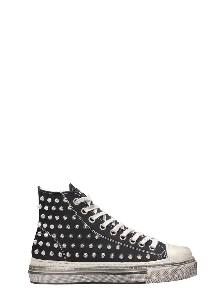 Gienchi J.m.high Sneakers In Black Rubber/plasic - black