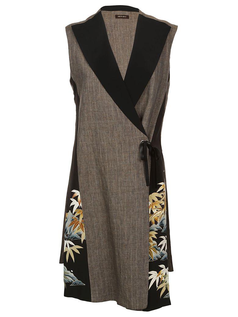 Ibrigu Embroidered Leaf Vest - Brown