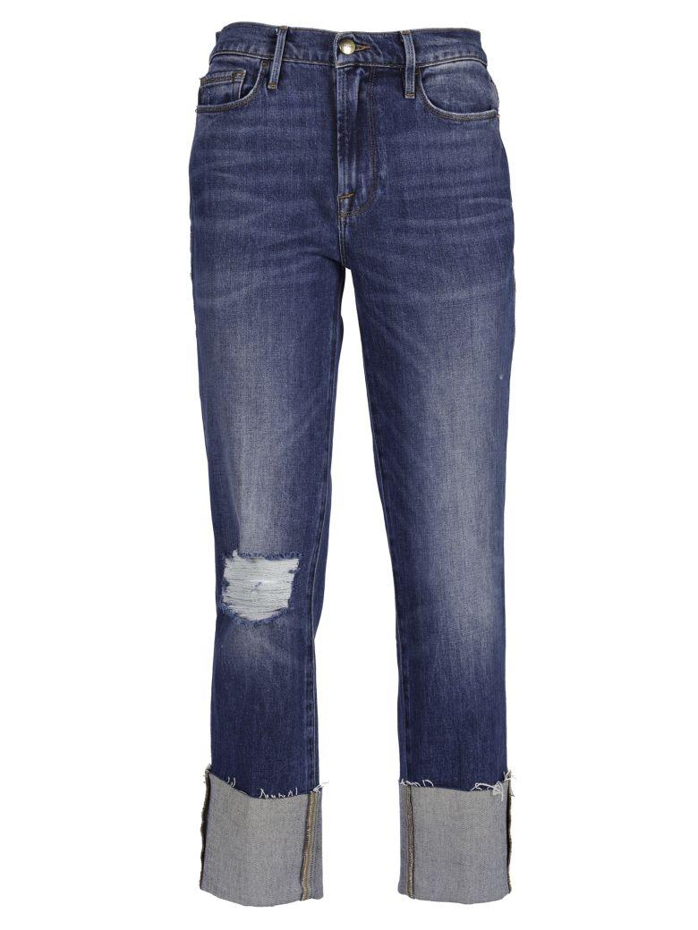 Frame Frame Distressed Straight Jeans - Blue