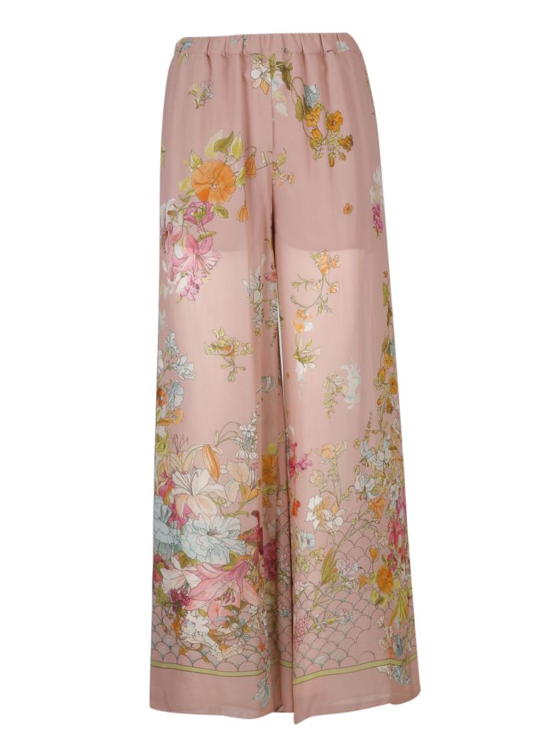 SEMICOUTURE Floral Print Trousers