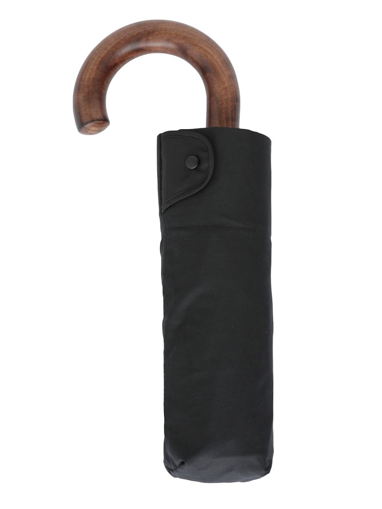 Burberry Trafalgar Umbrella - BLACK/ ANTIQUE YELLW