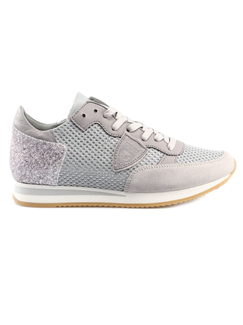 Philippe Model Logo Patched Sneakers - Gris