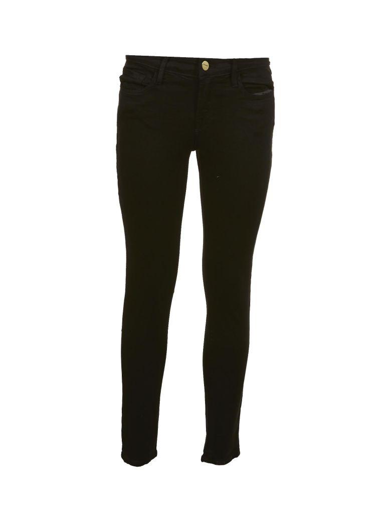 Frame Mid Rise Skinny Jeans - Nero