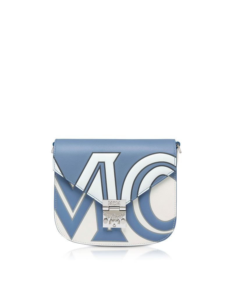 MCM Small Patricia Contrast Logo Shoulder Bag - Stone
