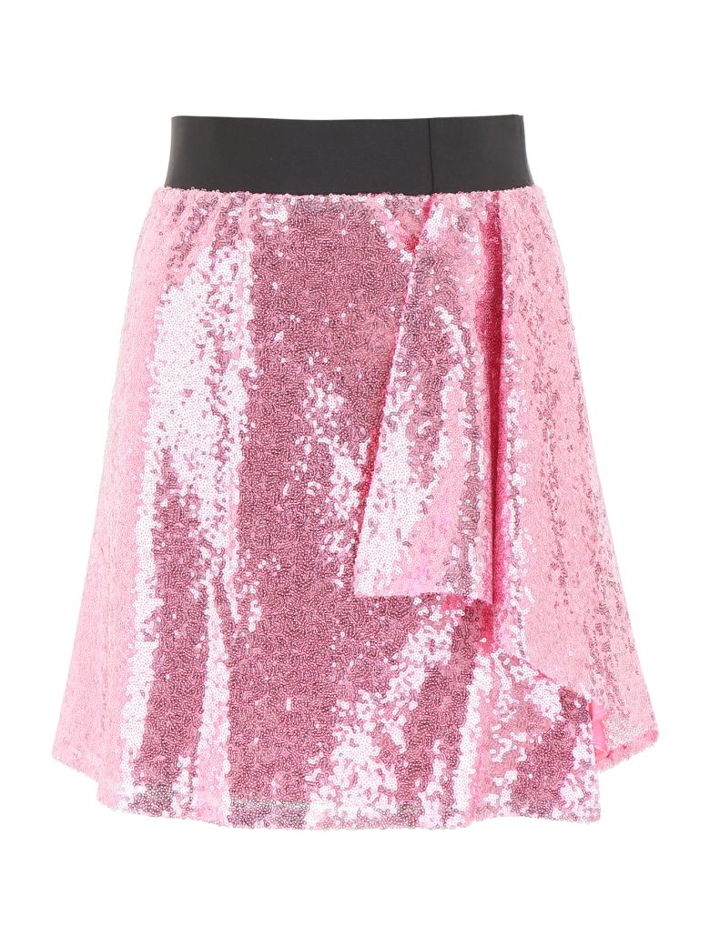 In The Mood For Love Sequins Lindsey Mini Skirt - PINK (Pink)