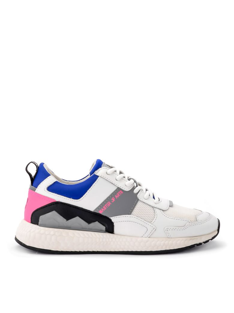 M.O.A. master of arts Multi-material White And Blue Moa Sneakers - MULTICOLOR
