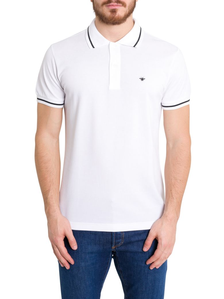 Dior Homme Ape Embroidered Polo Shirt - Bianco