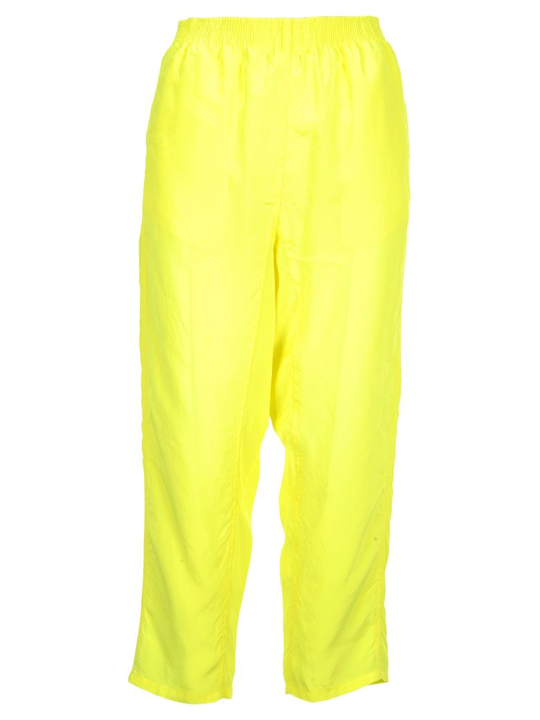 MM6 Maison Margiela Mm6 Mm6 Dropped-crotch Trousers - YELLOW FLUO