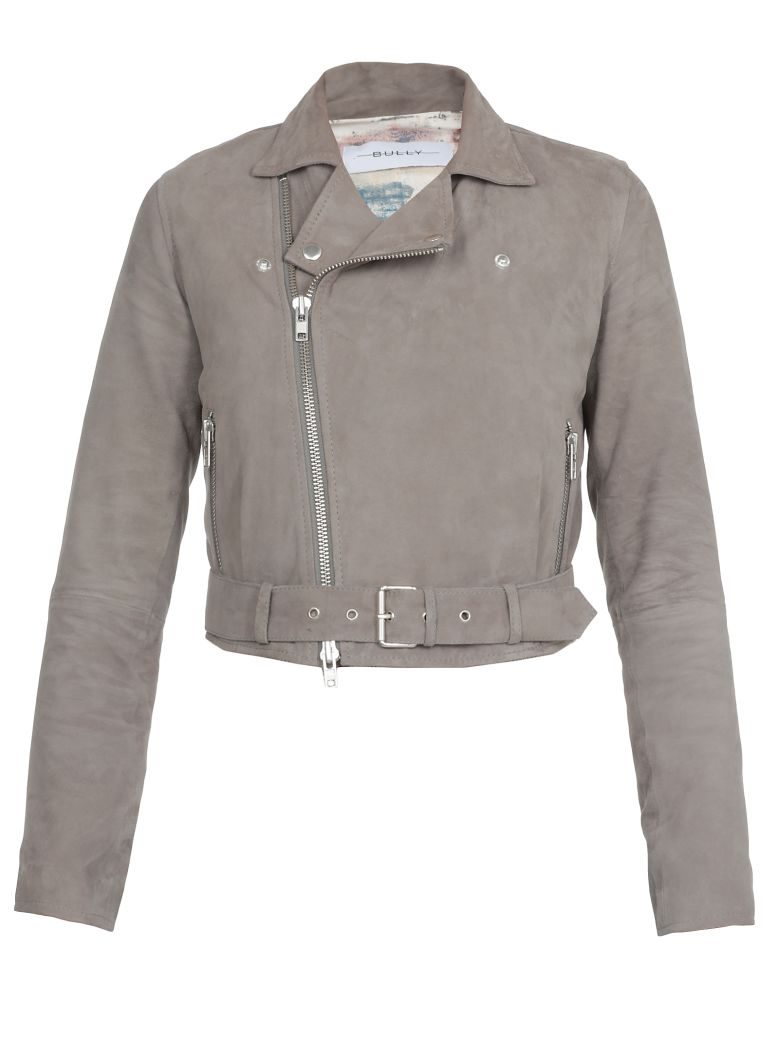 Bully Leather Studded Jacket - Grey