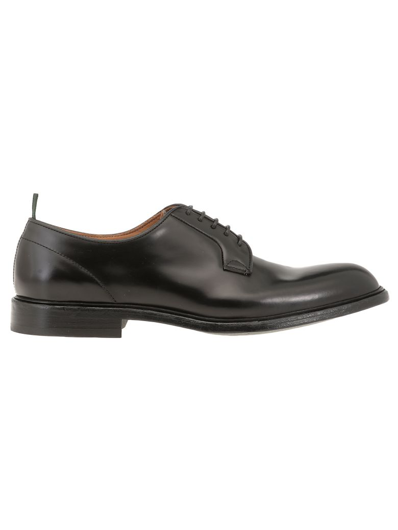 Green George Leather Lace-up Shoe - BLACK
