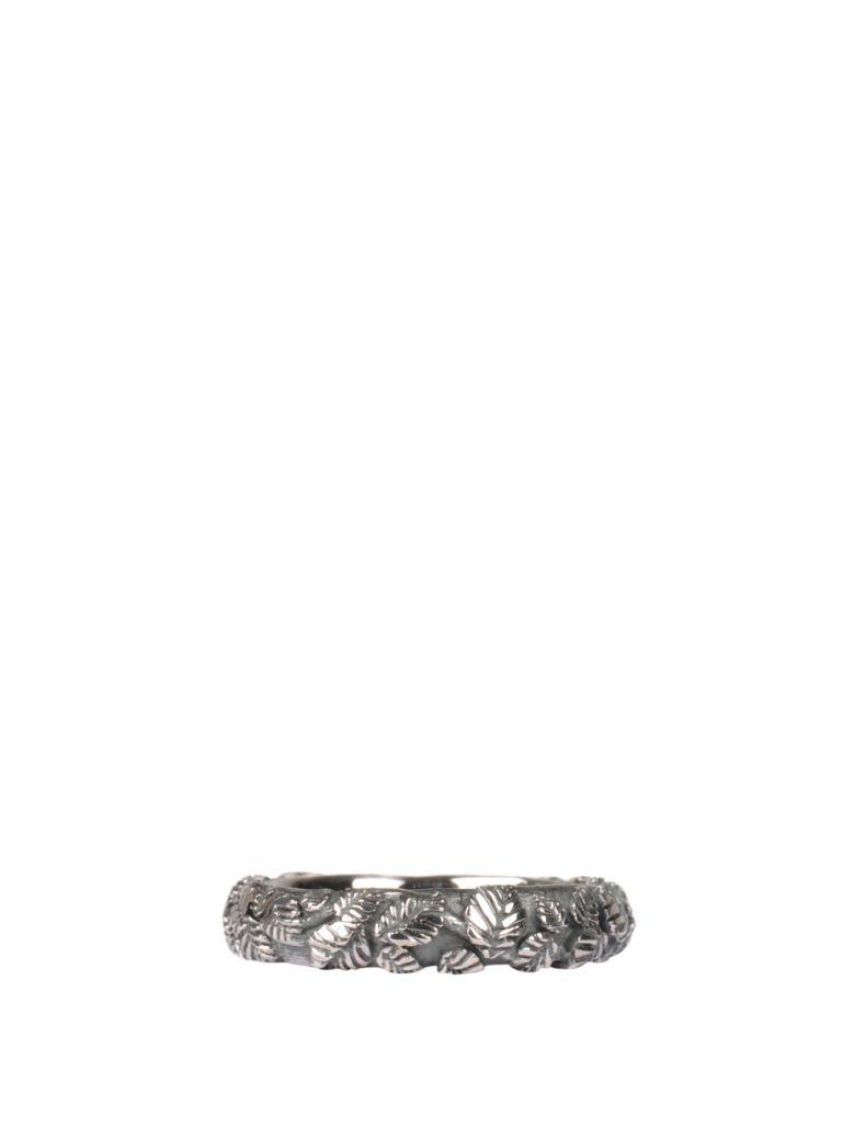 Ugo Cacciatori Tiny Leaves Silver Ring - ARGENTO