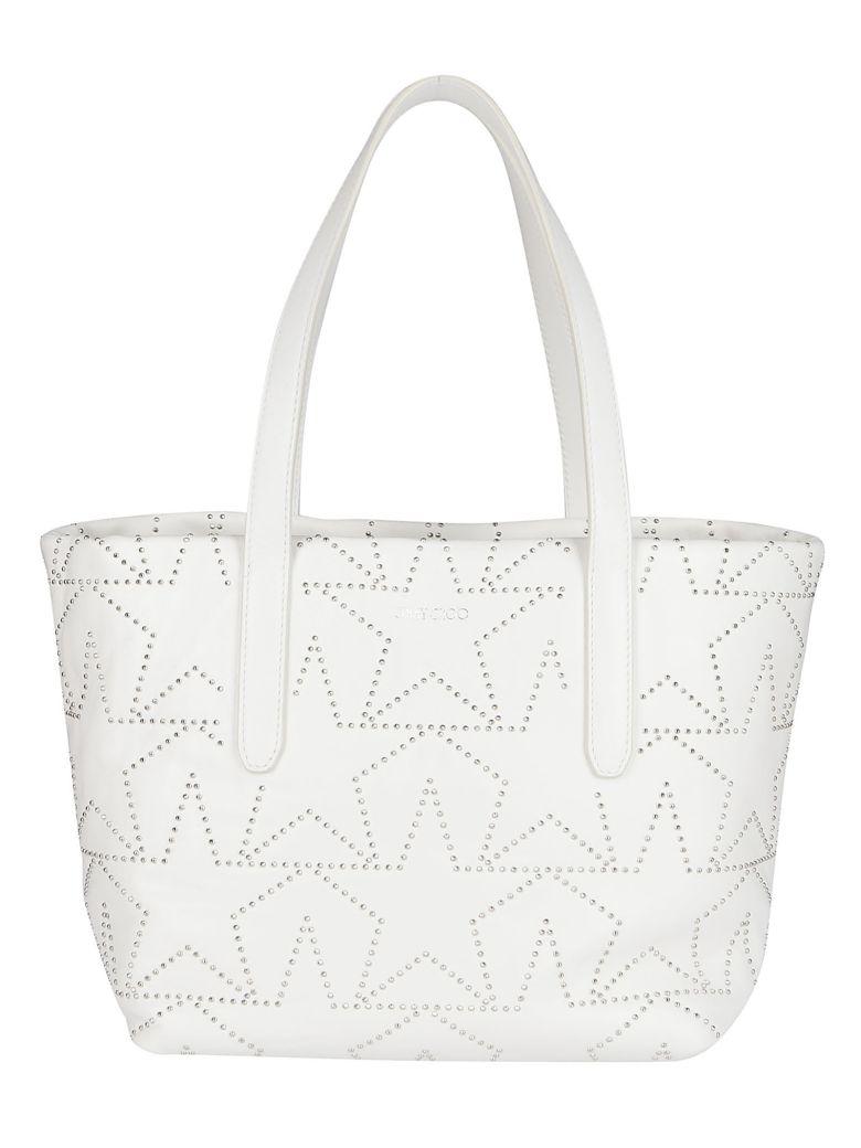Jimmy Choo White Leather Sofia Tote Bag - White