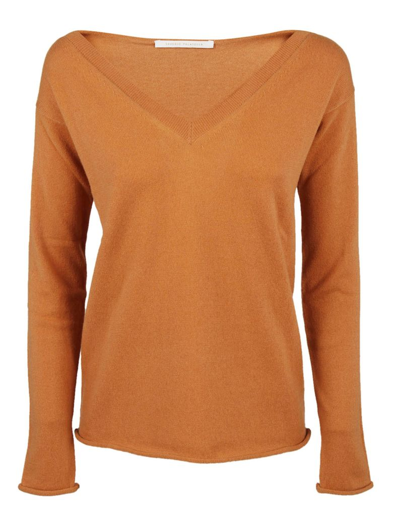 Saverio Palatella V-neck Sweatshirt - Copper