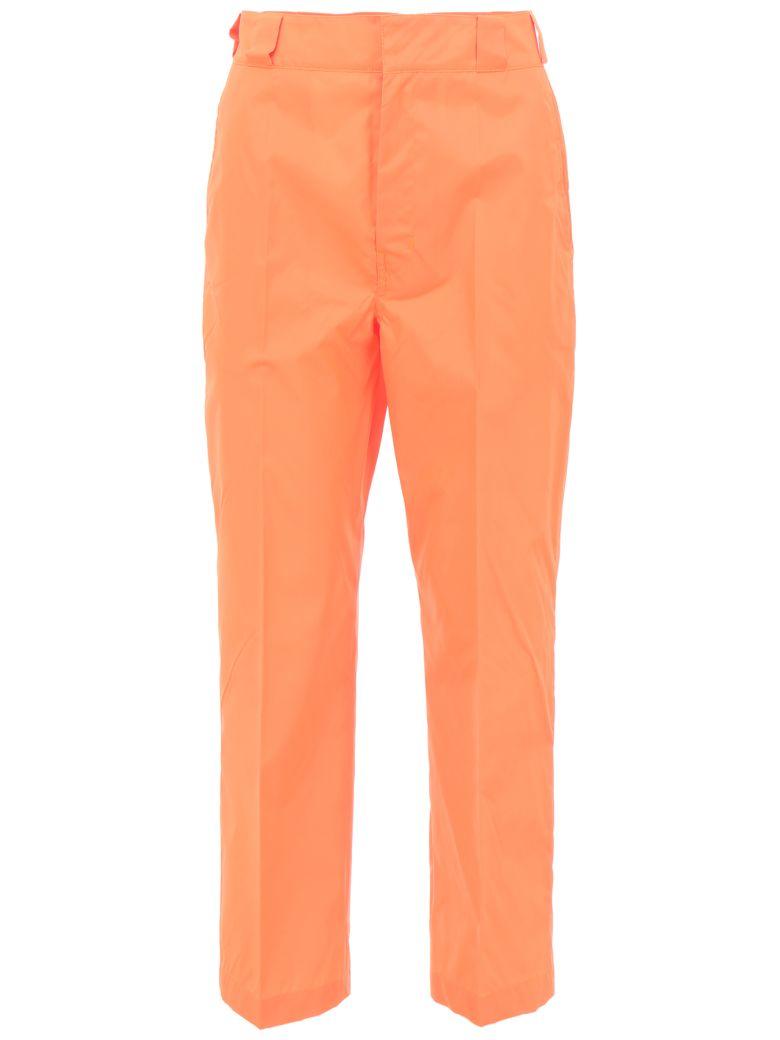 Prada Linea Rossa Nylon Gabardine Trousers - CORALLO|Arancio