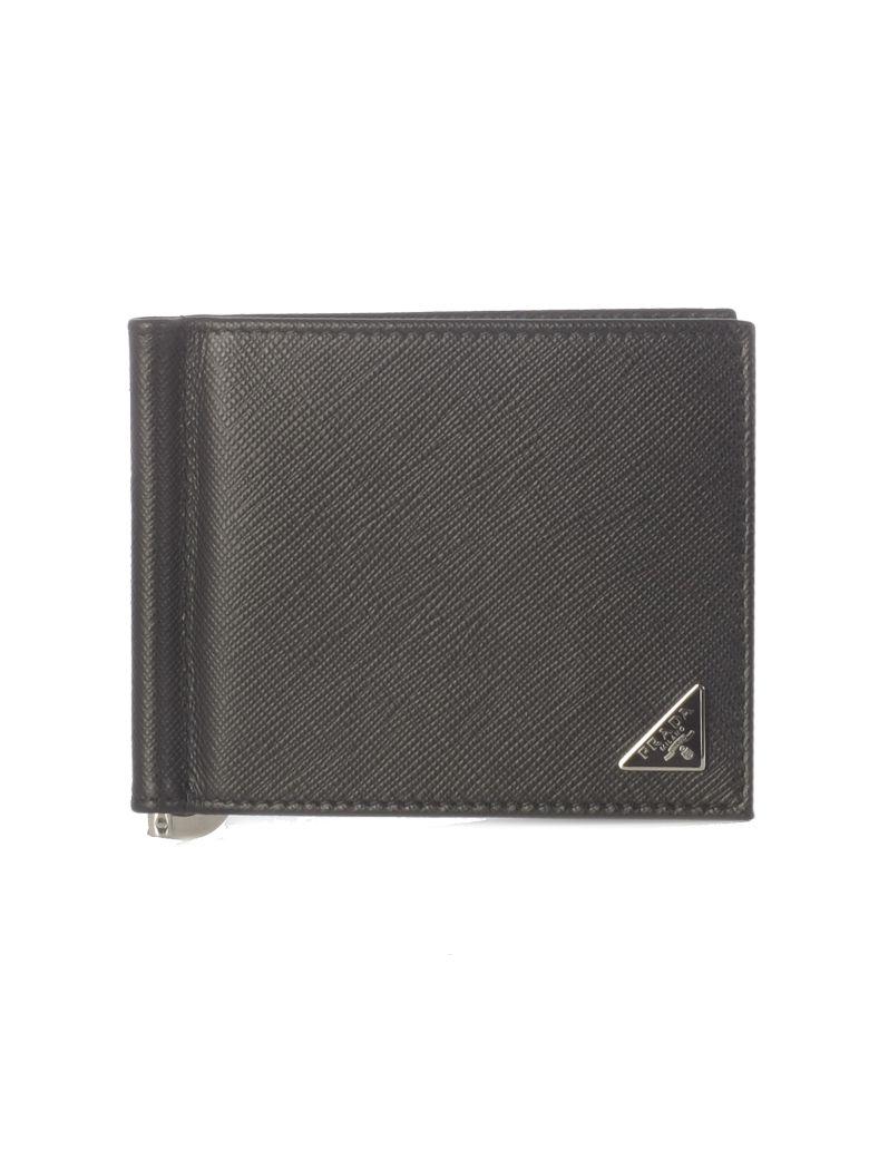 Prada Saffiano Wallet - Black