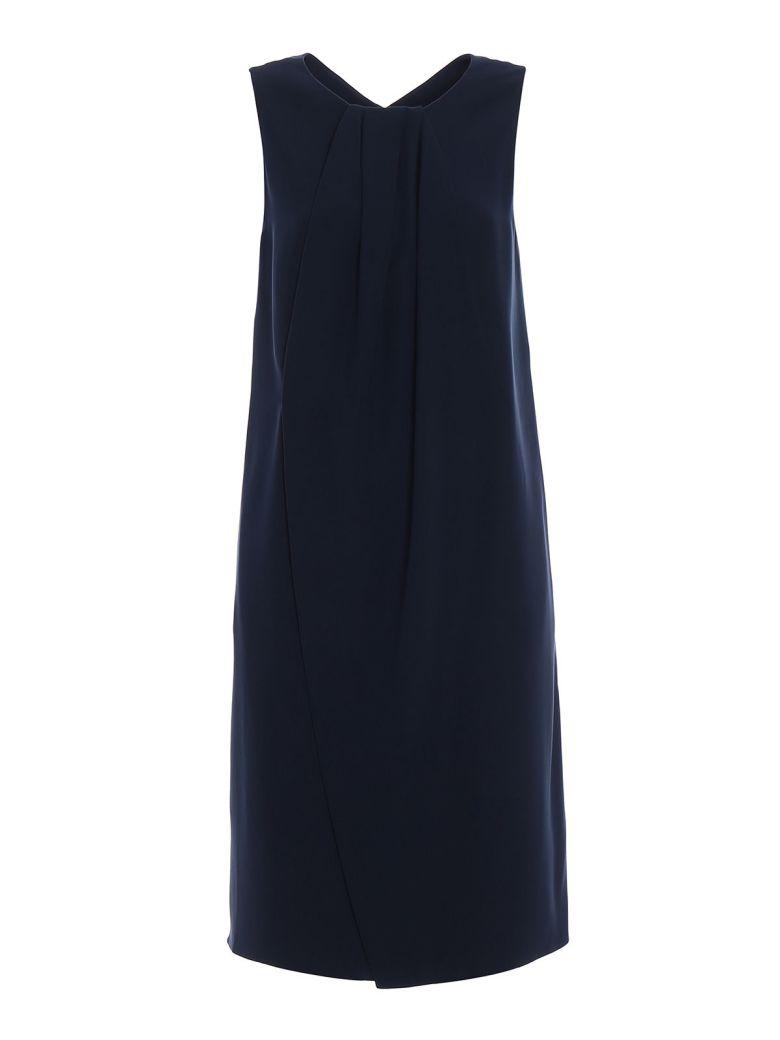 Emporio Armani Cady Vent Detailed Dress - Blue