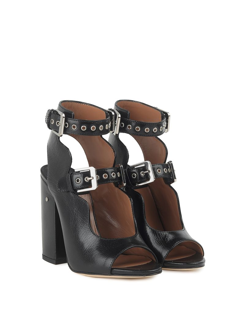 Laurence Dacade Nelen Buckled Leather Sandals - Black