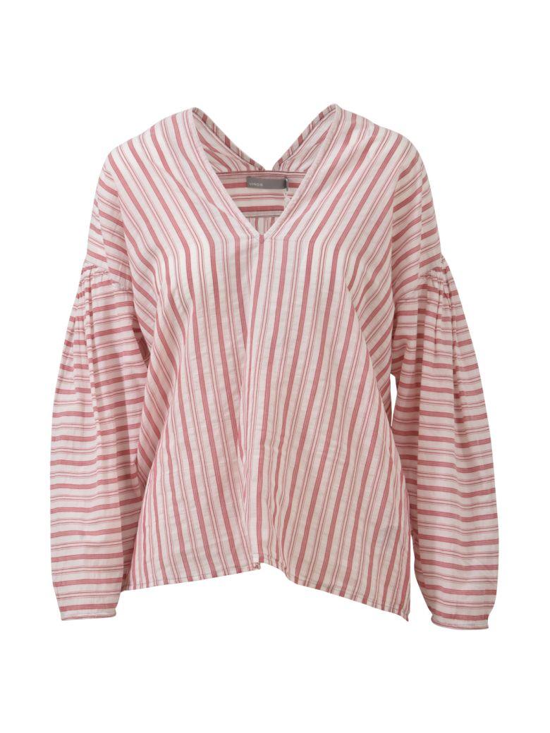 Vince Striped Long Blouse - Pink